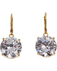 Betsey Johnson - Drop Crystal Earrings - Lyst
