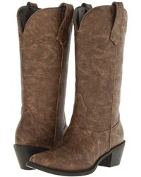 Roper - Western Embroidered Fashion Boot (tan) Cowboy Boots - Lyst