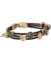 Lucky Brand - Stone Woven Bracelet - Lyst