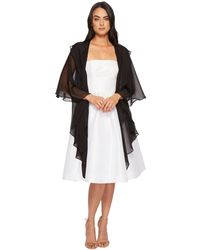Betsey Johnson - Two Tiered Ruffle Draped Evening Wrap (black) Women's Clothing - Lyst