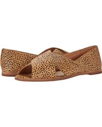 Madewell Ava Peep-toe Flat In Spot Dot - Brown
