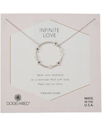 Dogeared - Infinite Love, Large Star Halo Necklace (sterling Silver) Necklace - Lyst
