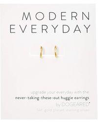 Dogeared Modern Everyday, Huggie Earrings Earring - Metallic