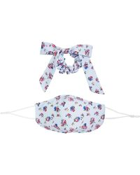 Free People Mask Bow Floral Pack - Blue
