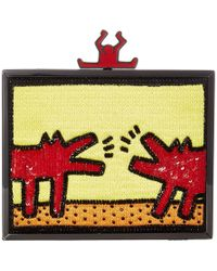 Alice + Olivia X Keith Haring Clutch Bag