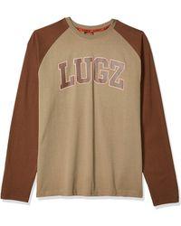 Lugz First Pitch Long Sleeve Raglan T-shirt - Brown