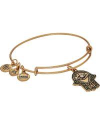 ALEX AND ANI - Path Of Symbols-hand Of Fatima Iii Bangle (rose Gold) Bracelet - Lyst