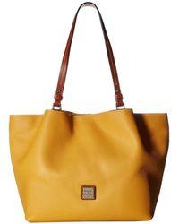Dooney & Bourke - Pebble Flynn (caramel/tan Trim) Handbags - Lyst