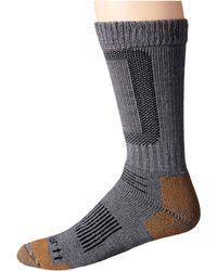 Carhartt - Merino Wool Comfort Stretch Steel Toe Socks 1-pair Pack (heather Gray) Men's Crew Cut Socks Shoes - Lyst