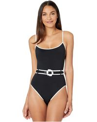 Kate Spade Daisy Buckle Classic Over The Shoulder One-piece - Black