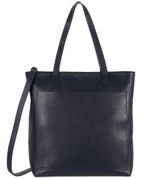 Madewell The Zip Top Medium Transport Tote: Webbing Strap Edition - Blue
