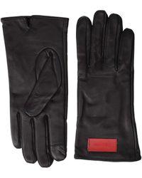 Calvin Klein Basic Leather Touch Gloves - Brown