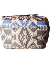 Pendleton Canopy Canvas Square Cosmetic Case - Blue