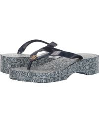 a3af7fe6c566 Tory Burch - Cut Out Wedge Flip-flop (tory Navy navy Gemini Link