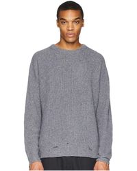 The Kooples - Distressed Pullover (vintage Grey) Men's Long Sleeve Pullover - Lyst
