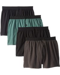 Pact - Knit Boxers 4-pack (black/charcoal Heather/pine) Men's Underwear - Lyst