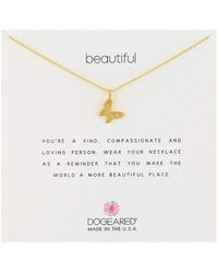 Dogeared Beautiful Necklace, Enchanted Butterfly Necklace Necklace - Metallic