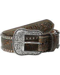Ariat - Embossed & Studded Belt - Lyst