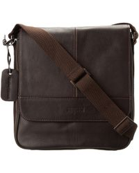 Kenneth Cole Reaction - Columbian Leather Vertical Flapover Tablet Case (black) Messenger Bags - Lyst