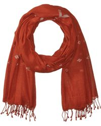 Eileen Fisher - Handloom Organic Cotton Scarf (orange Pekoe) Scarves - Lyst