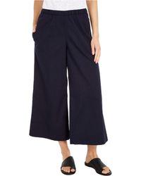 Eileen Fisher Wide Leg Cropped Pants - Blue