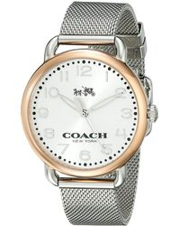 COACH - Delancey 36mm Mesh Bracelet Watch - Lyst