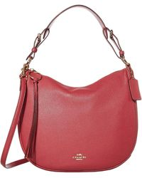 COACH Polished Pebble Leather Sutton Hobo - Pink