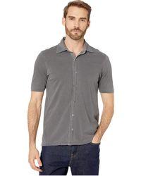 Mod-o-doc Dana Point Short Sleeve Button Front Shirt - Gray