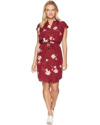 Lauren by Ralph Lauren - Petite Floral Drawstring Dress (multi) Women's Dress - Lyst