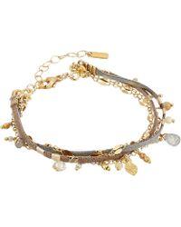 Chan Luu - Multi Strand Dangle Bracelet (taupe Mix) Bracelet - Lyst