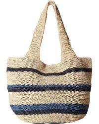 Hat Attack - Straw Carryall (blues) Bags - Lyst