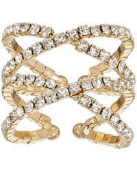 Guess - Crisscross Pave Ring - Lyst