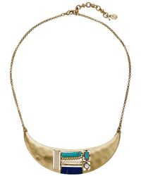 Lucky Brand - Beaded Inset Collar Necklace - Lyst
