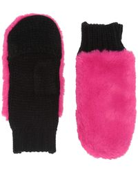 San Diego Hat Company Kng5027 Faux Fur Neon Gloves With Knit Palm - Pink
