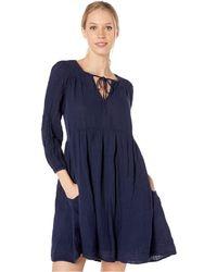 d5009c50d501e Michael Stars - Double Gauze Adina 3/4 Sleeve Peasant Dress (admiral)  Women's