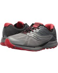 Saucony - Ride 10 Gtx(r) (grey/red) Men's Running Shoes - Lyst