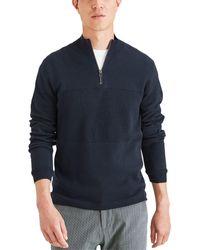 Dockers Regular Fit 1/4 Zip Sweater - White