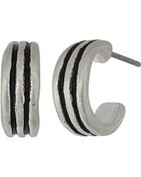 The Sak - Ribbed Baby Hoop Earrings - Lyst