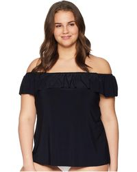 Magicsuit - Plus Size Solid Kris Tankini Top (black) Women's Swimwear - Lyst