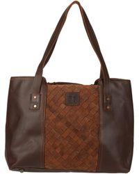 STS Ranchwear Basket Weave Large Tote - Brown