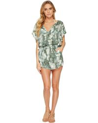 Lucky Brand - Indian Summer Batwing Romper Cover-up - Lyst