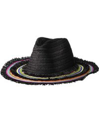 b4082744be1801 Betsey Johnson - Rainbow Panama Hat W/ Frayed Edge - Lyst