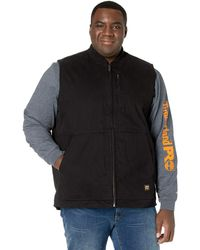 Timberland Gritman Lined Canvas Vest - Tall - Black