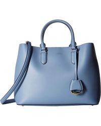Lauren by Ralph Lauren - Dryden Marcy Satchel Large (blue Mist/cosmic Blue) Satchel Handbags - Lyst