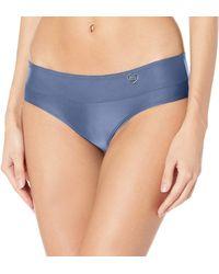 Body Glove Smoothies Hazel Solid Mid Coverage Bikini Bottom Swimsuit - Black