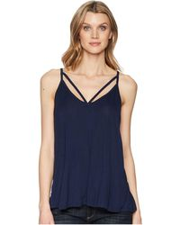 Stetson - 1578 Rayon Knit V-neck Strappy Tank Top (blue) Women's Clothing - Lyst