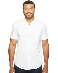 Mod-o-doc - Humboldt Short Sleeve Button Front Shirt (white) Men's Short Sleeve Button Up - Lyst