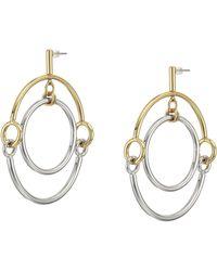 Rebecca Minkoff - Interlocking Ring Orbit Earrings - Lyst