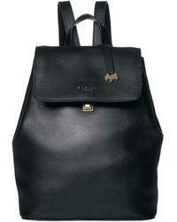Radley Sandler Street - Medium Flapover Backpack - Black
