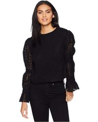 Chan Luu - Eyelet Sleeve Sweater (black) Women's Sweater - Lyst